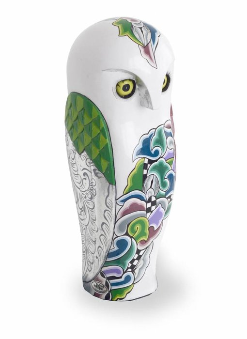 Toms Drag Snowy owl sculpture (SL) - L