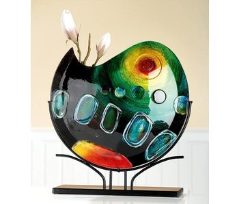 Gilde GlasArt Glas Vase Sunrise auf Ständer - XL