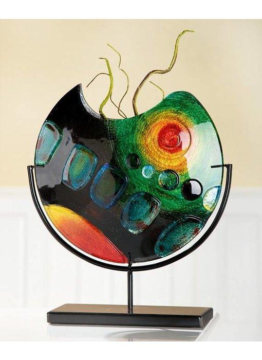 Eldig Design glass vase Sunrise on stand - M
