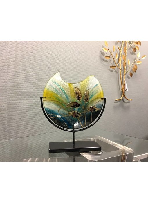 Eldig Glasvase  Goldblatt auf Standard - M