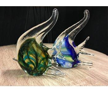 Eldig Kaiserfischen aus Glas- set