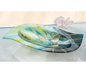 Gilde GlasArt Glass bowl Gold leaf