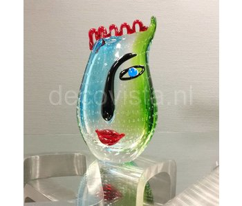 Design glass vase Cool Water