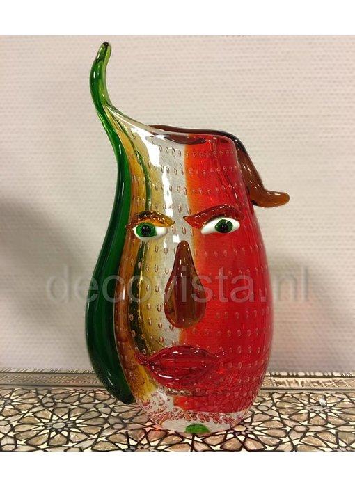 Eldig Glazen design vaas Fire Head