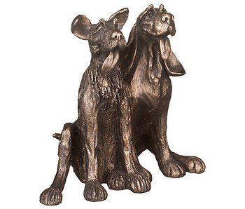 Frith Sculptuur twee bevriende honden