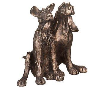 Frith Skulptur zwei freundliche Hunde