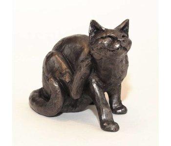 Frith Katze Skulptur Frith - kratzende Katze