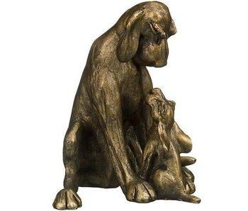 Frith Sculptuur hond met puppy