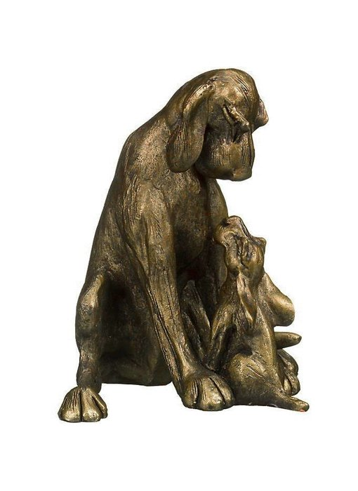 Frith Skulptur Hund mit Welpe n