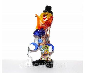 Vetri di Murano Colorful clown of Murano glass