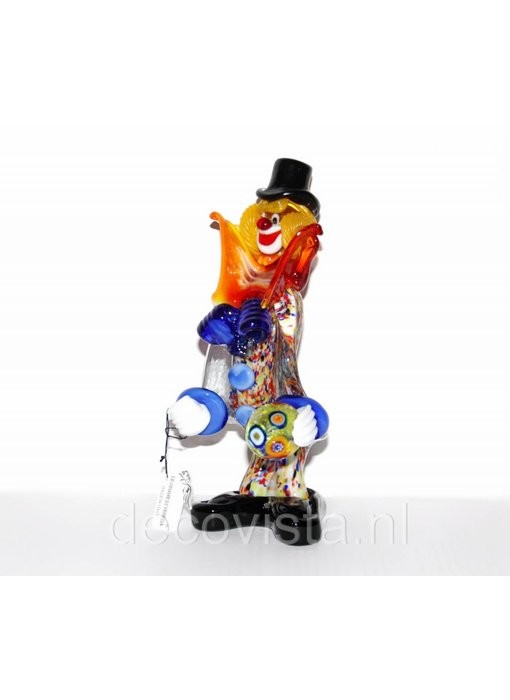Vetri di Murano Colorful clown of Murano glass
