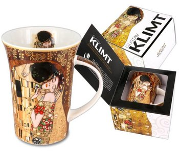 Carmani Becher aus Porzelan - Der Kuss von Gustav Klimt