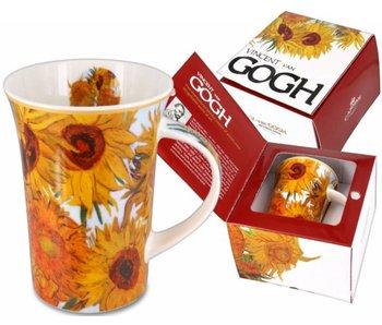 Carmani Mug,  porcelain - Sunflowers of Van Gogh
