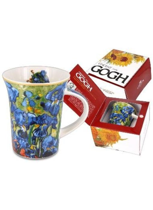 Carmani Mok van porselein -  Irissen  van Van Gogh