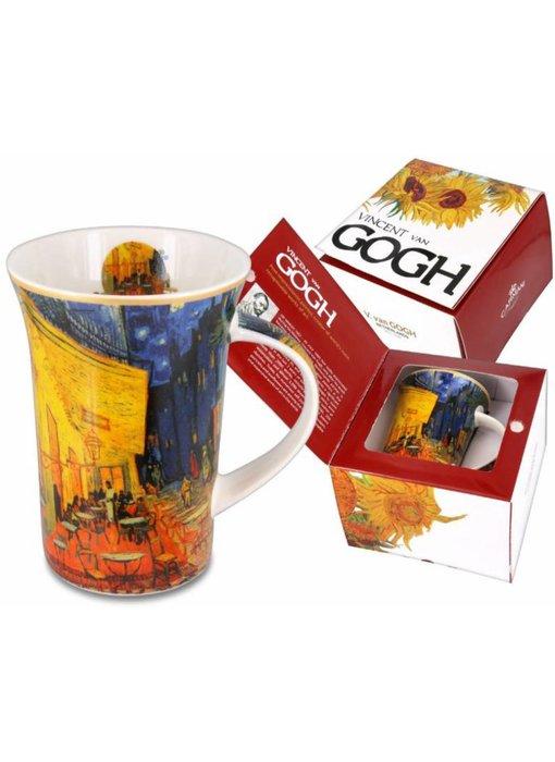 Carmani Mug, of porcelain - Café terrace at night, Van Gogh