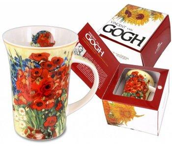 Carmani Taza de café  - Amapolas y margaritas  Van Gogh