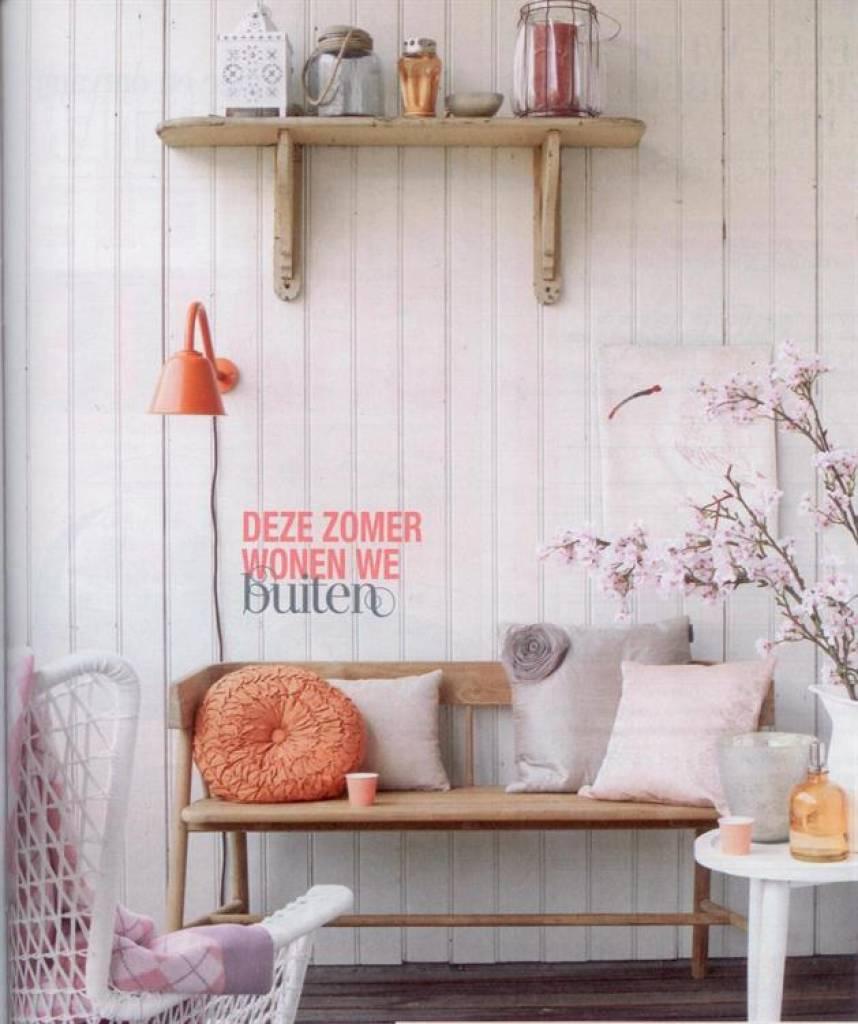 hk living brown canap en teck 45x123x72cm en bois wonen. Black Bedroom Furniture Sets. Home Design Ideas