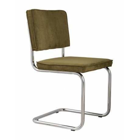 Zuiver Dining chair green knit 48x48x85cm, CHAIR GREEN RIDGE RIB 25A