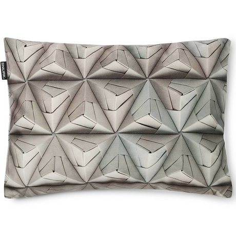 Snurk Beddengoed Cushion cover Geogami gray, 35x50cm