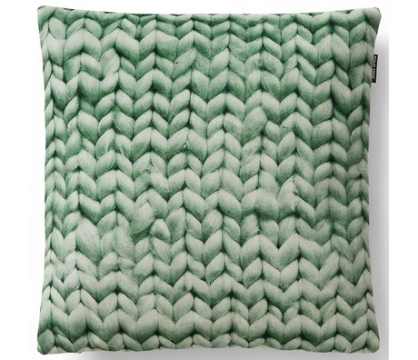 Snurk Beddengoed Throw pillow cover Twirre, minty green, 50x50cm, green
