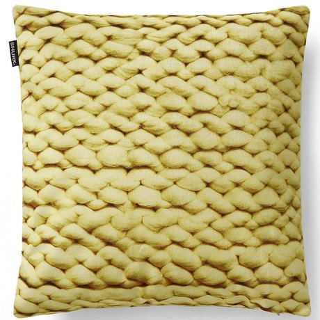 Snurk Beddengoed Throw pillow cover Twirre, citrus yellow, 50x50cm, yellow