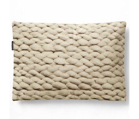 Snurk Beddengoed Cushion cover Twirre natural beige, 35x50cm