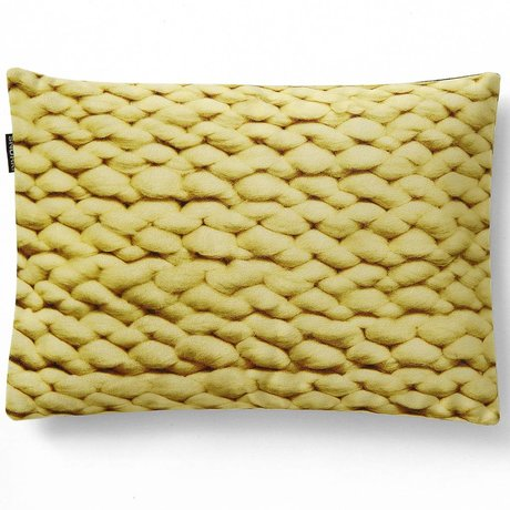 Snurk Beddengoed Throw pillow cover Twirre citrus yellow, 35x50cm, yellow