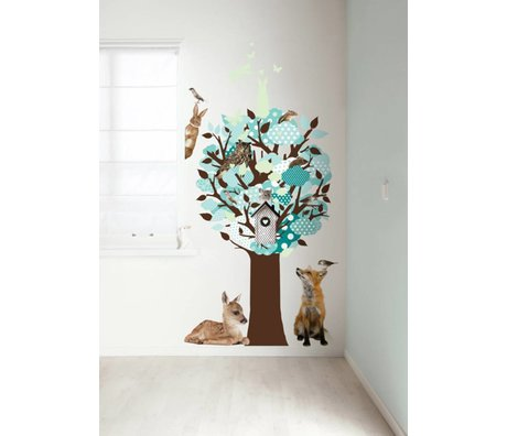 KEK Amsterdam Wall Decal turquoise 95x150cm Glow-in-the-dark foil Tree wall
