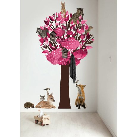 KEK Amsterdam Wandtattoo / Coat Rosa 120x220cm Wald Tree Friends XL Wandfilm