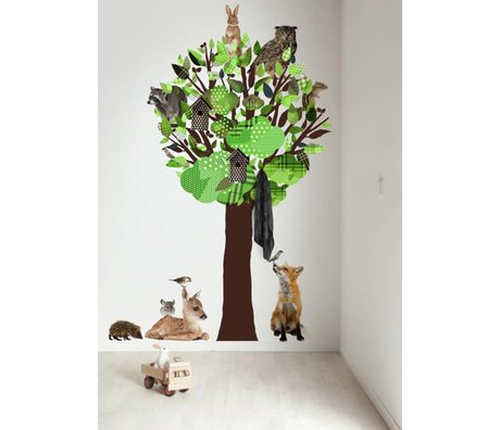 KEK Amsterdam Wall Decal / Coat Green 120x220cm Forest Tree Friends XL wall film