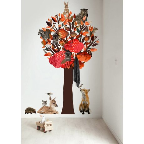 KEK Amsterdam Wall Decal / Coat Orange 120x220cm Forest Tree Friends XL wall film