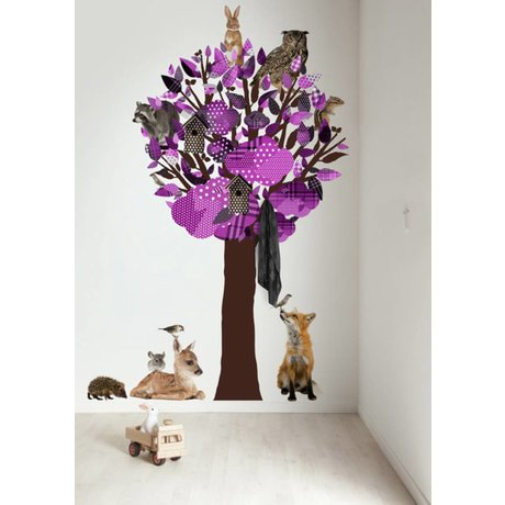 KEK Amsterdam Wall Decal / Coat Purple 120x220cm Forest Tree Friends XL wall film