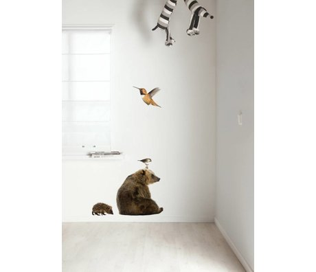 KEK Amsterdam Wall Decal Set 5 multicolour Forest Friends wall film