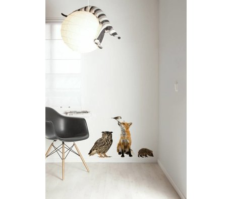 KEK Amsterdam Wall Decal Set 4 multicolour Forest Friends wall film
