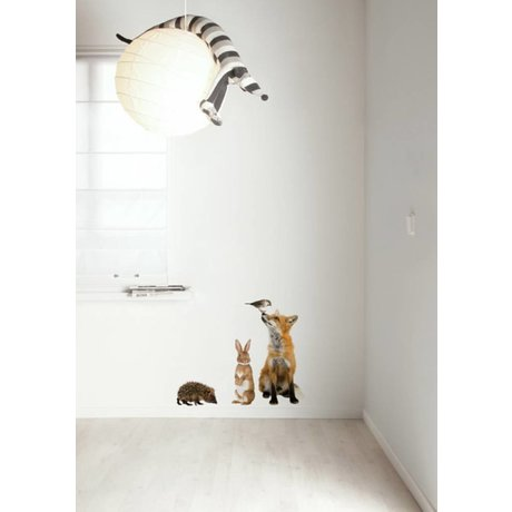 KEK Amsterdam Wall Decal Set 3 multicolour Forest Friends wall film