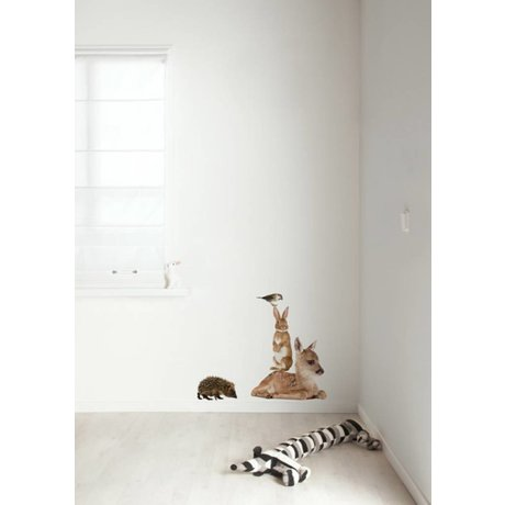 KEK Amsterdam Wall Decal Set 2 multicolour Forest Friends wall film