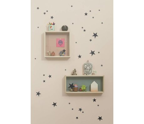 Ferm Living Wandtattoo Mini stars Wall Stickers - Mini Stars Schwarz