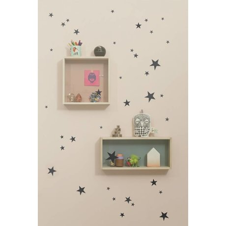 Ferm Living Muursticker mini sterren Wall Stickers - Mini Stars zwart