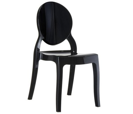 Zuiver Chair Elizabeth Black polycarbonate 90x47x50cm for outdoor and indoor