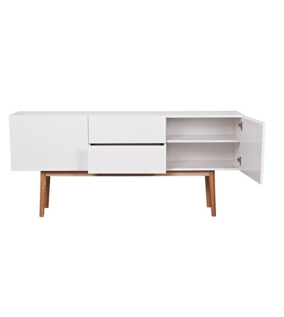 Zuiver TV Cabinet Cabinet High On Wood White, With Drawers