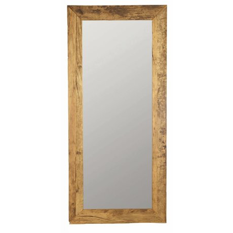 Housedoctor Natural brown recycled wood 95x210cm Mirror, Mirror Pure nature