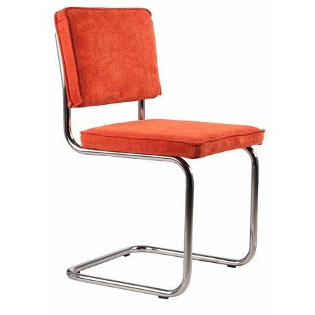Zuiver Esszimmerstuhl Orange stricken 48x48x85cm, CHAIR ORANGE RIDGE RIB 19A