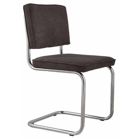 Zuiver Chaise gris 48x48x85cm tricot, RIDGE RIB CHAISE GRIS 6A