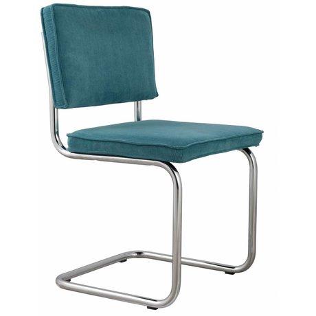 Zuiver Dining chair blue knit 48x48x85cm, CHAIR BLUE RIDGE RIB 12A