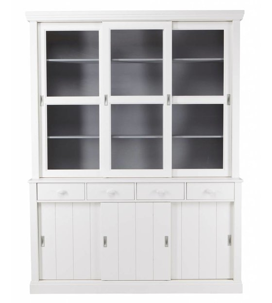 White Pine Cabinets: LEF Collections Cabinet 'Lagos' White Pine 215x166x48 Cm