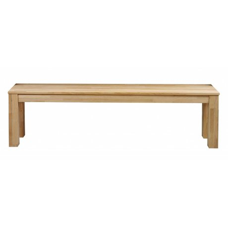 LEF collections Bank 'Largo' natural untreated oak 160x30x46cm