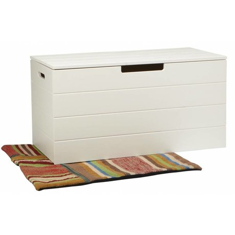 LEF collections Storage boxes 'Shack' white pine 42X80X42cm
