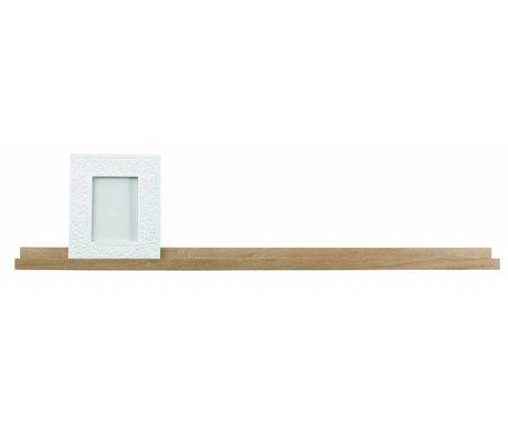 LEF collections Rahmenregal 'Studio' naturbraun unbehandeltem Eichen 120x5x10cm
