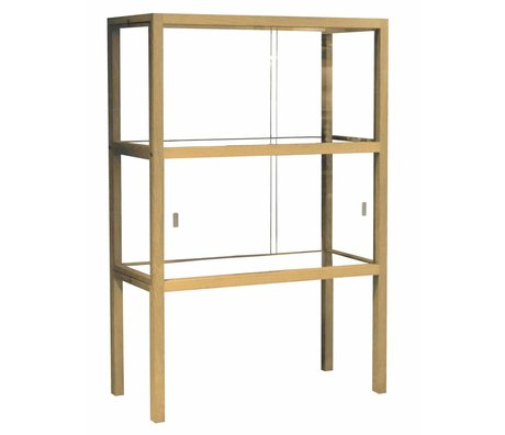 HK-living Showcase Glas / Holz 75x36x112cm