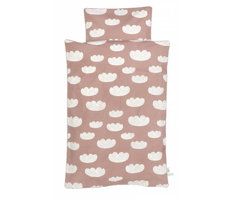 Ferm Living Cloud clouds pink cotton duvet cover 100x140 cm -Junior